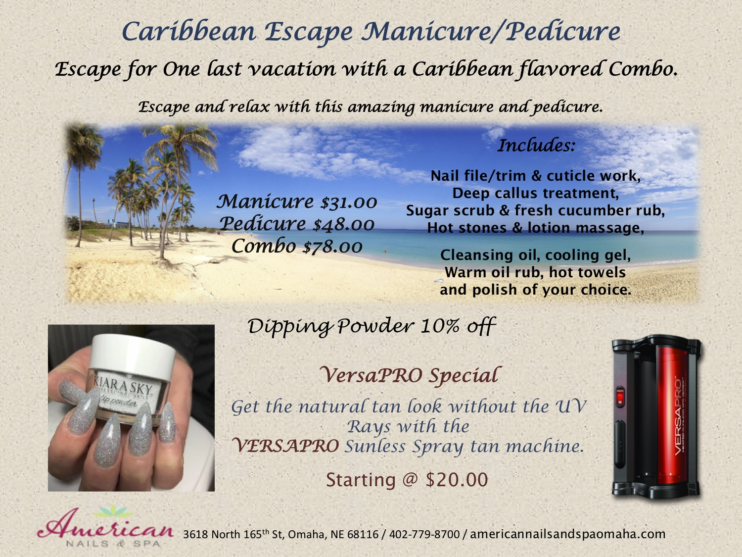 Monthly Specials - American Nails and Spa
